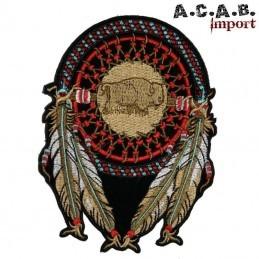 Patch brodé «attrape reve bison » biker 28.5 cm X 21.5 cm