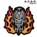 Patch brodé «spartan skull » biker 7.5 cm X 7.5 cm