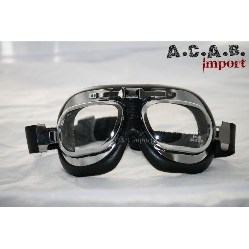 Lunettes de casque Aviateur RAF moto, trike, cafe racer e74368480ec2