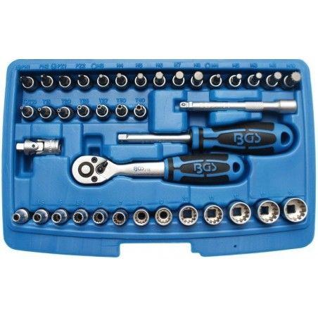 """Jeu de clé à douille Gear Lock 6,3 mm (1/4"""") 39 pièces"""