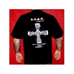 Tshirt noir A.C.A.B. Import cross