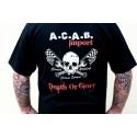 Tshirt noir A.C.A.B. Import skull
