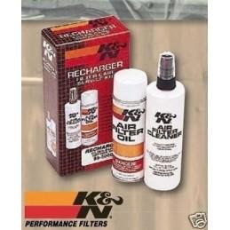 Kit d'entretien k&n pour filtre air moto