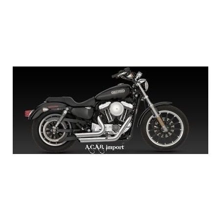 Vance & Hines Shortshots staggered chromé Sporster Harley 04-13