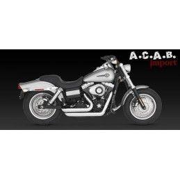 Vance & Hines Shortshots staggered chrome Dyna 2006 2011 Harley Davidson