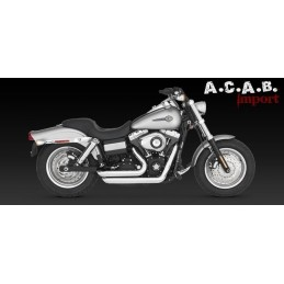 Vance & Hines Shortshots staggered chrome Dyna 2006 2011 Harley Davidson