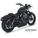 Pots Vance & Hines Shortshots black Sporster Harley 04-13 Vance & Hines - 1