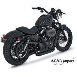Pots Vance & Hines Shortshots black Sporster Harley 04-13