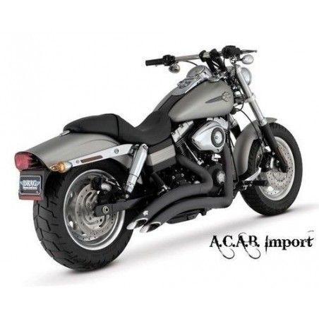 Vance & Hines Big Radius 2en2 black Dyna 2006 2011 Harley Davidson