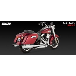 Pots Vance & Hines Twin Slash Dual Dyna Switchback Harley Davidson 2012 - 2014