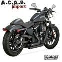 Pots Vance & Hines Shortshots black Sporster 2014 2020 Harley Davidson Vance & Hines - 1