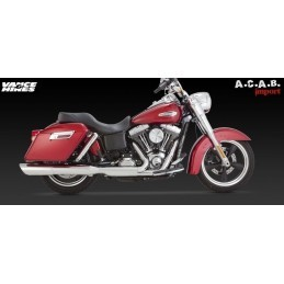 Vance & Hines Twin Slash 2 en 1 Slip on Dyna Switchback Harley Davidson 2012 à 2014