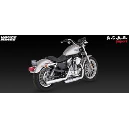 Vance & Hines Twin Slash 3'' slip ons chromé pour Sporster Harley Davidson 2004 2013