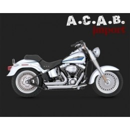 Vance & Hines Shortshots staggered chromé Softail 1987 à 2011 Harley Davidson