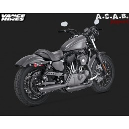 Vance & Hines Twin Slash 3'' slip on noir sporster 2004 à 2013