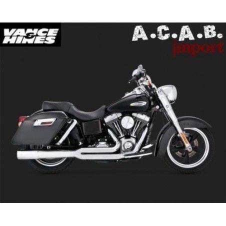 Pots Vance & Hines Pro Pipe chrome Dyna Switchback Harley Davidson 2012 - 2016