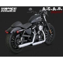 Vance & Hines Twin Slash 3' Slip on chrome Sporster Harley Davidson 2014 - 2018