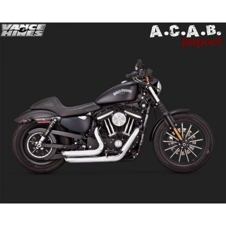 Pots Vance & Hines Shortshots chrome Sporster 2014 2018 Harley Davidson