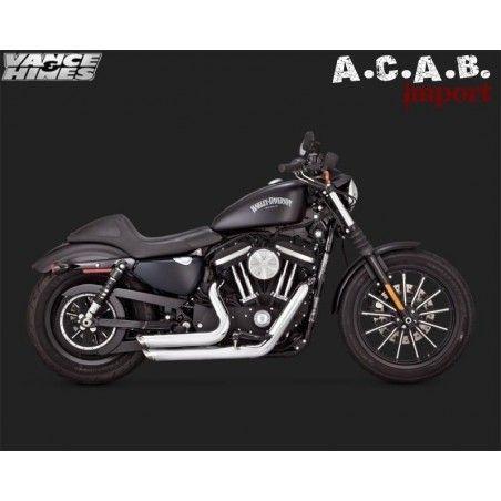 Pots Vance & Hines Shortshots chrome Sporster 2014 2019 Harley Davidson