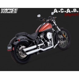 Vance & Hines Twin Slash 3'' Slip on chrome Softail et Dyna