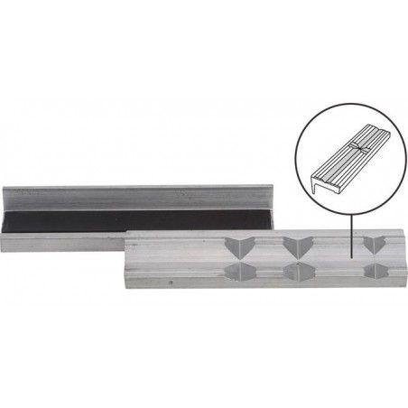 Mors de protection pour étau aluminium largeur 125 mm 2 pièces