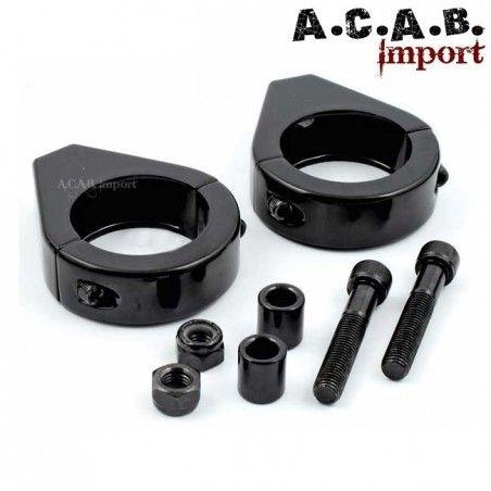 Relocalisateur noir de clignotant pour fourche 39 mm