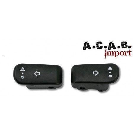 Kit extensions boutons de clignotants noir pour harley