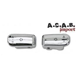 Kit extensions boutons de clignotants chromé pour harley