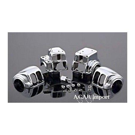 Kit cocottes chromées pour Tourer Harley 1996 2013 radio sans cruise