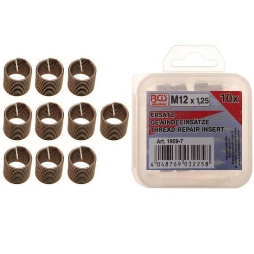 Inserts taraudées de rechange M12 x 1,25 mm 10 pièces