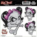 autocollant Lethal Angel Pink Ribbon Skull - 1