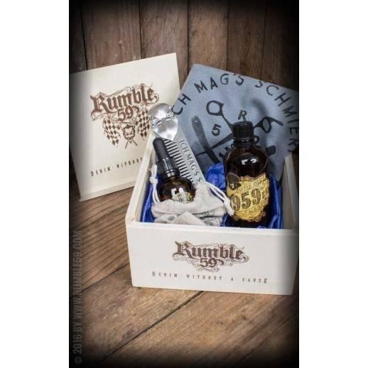 Coffret-cadeau vintage soin barbe Rumble 59