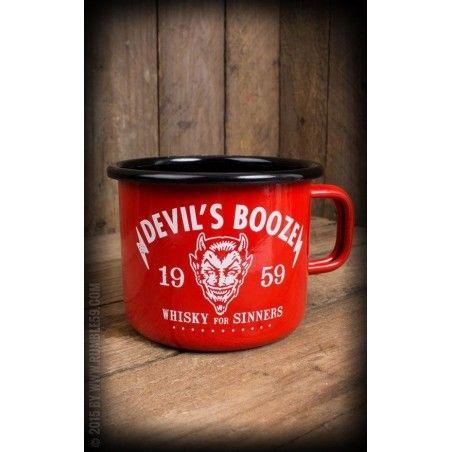 Gobelet acier émaillé - Devil's Booze-Rumble 59