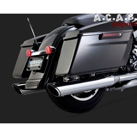 Silencieux Vance & Hines Chrome TWIN SLASH ROUND SLIP-ONS FL 2017-2018