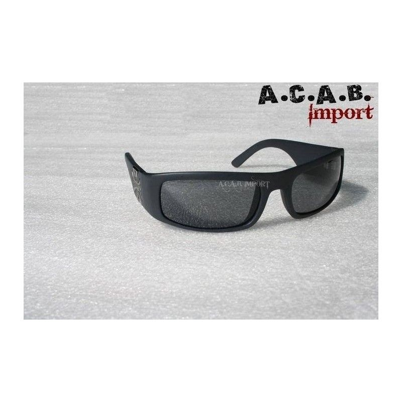 5678af1ed2dec2 Lunettes West Coast Choppers Gangscript noires-acab import