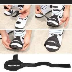 protège chaussure moto réglable