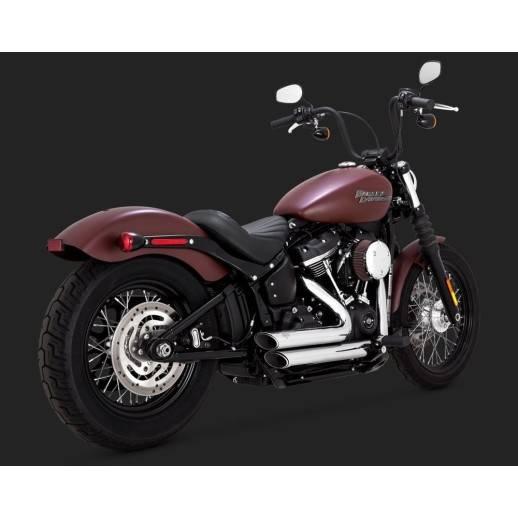 Vance & Hines Shortshots staggered chromé Softail 2018 Harley Davidson