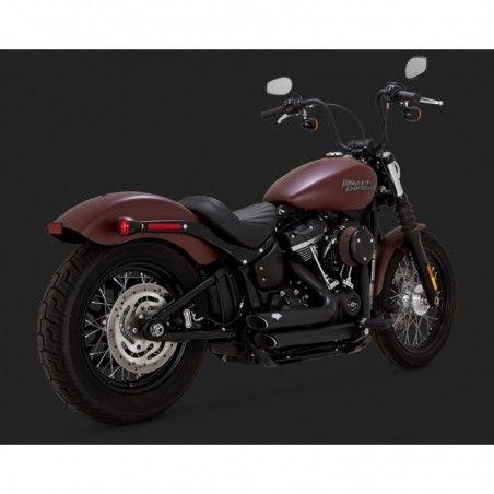 Vance & Hines Shortshots staggered noir Softail 2018 Harley Davidson