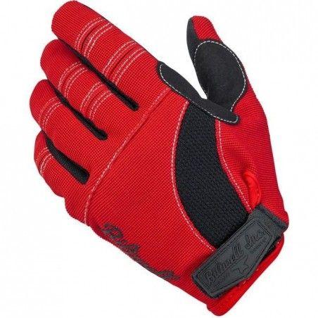 Gants Moto Gloves Biltwell Red Black White