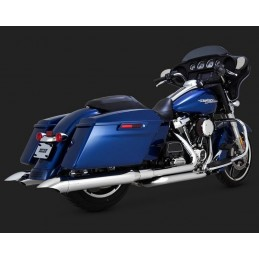 "VANCE & HINES 4"" TURNDOWN SLIP-ONS TOURER 17UP MILWAUKEE-EIGHT® CHROME 16762"
