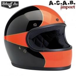 Casque Biltwell Gringo LE Scallop gloss black orange