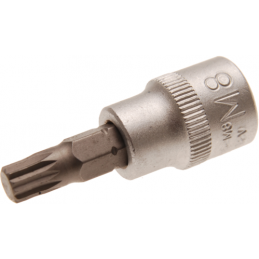 """Douille à embouts 10 mm (3/8"""") denture multiple intérieure (pour XZN) M8"""