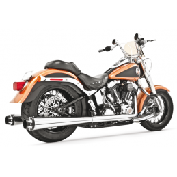 Pots 2en2 Freedom Performance American Outlaw Chromé noir Softail 07-17