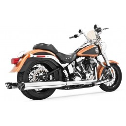 Échappements Freedom Performance Racing True Duals Softail chr/blk 97-06