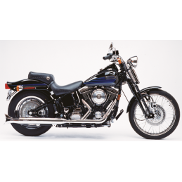 Echappement Supertrapp 2-1 Fishtail pour Softail de 86-17