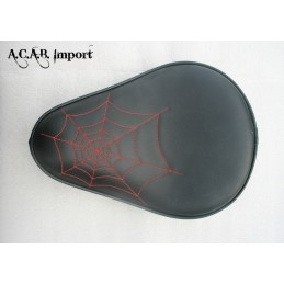 Selle solo Spider Web Easyrider type ''old school'' broderie rouge
