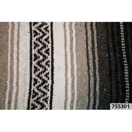 Couverture Mexicaine Serape Veracruz noir et blanc