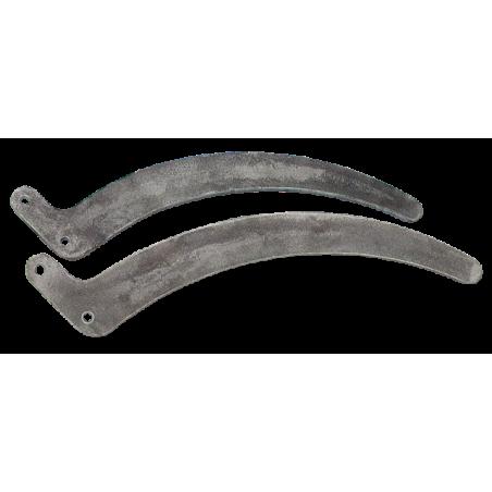 Sabres en acier courbés avec déport de 25mm