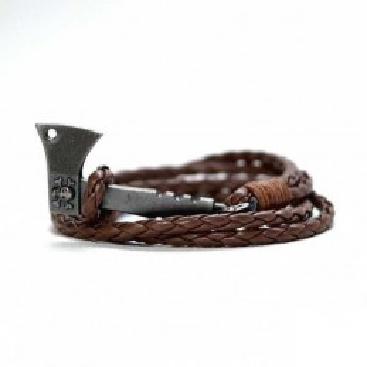 Bracelet Hache & Skull marron Frenchy Apparel