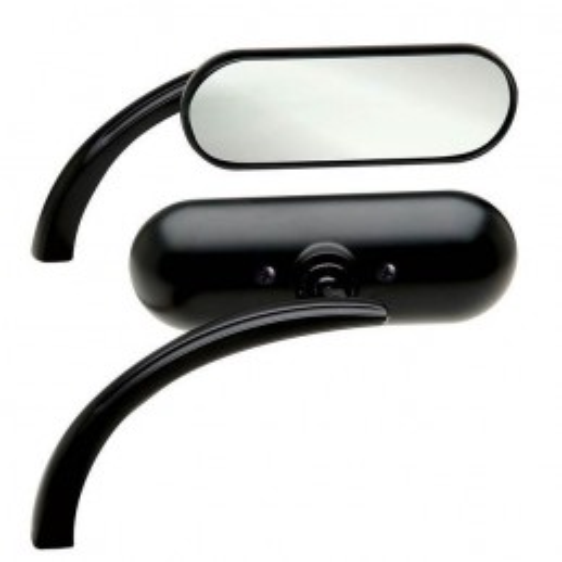 Rétroviseur Arlen Ness Gauche noir Mini Ovale